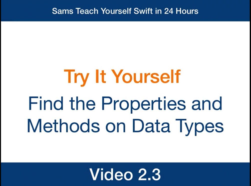 Hour 2: Learning Swift's Fundamental Data Types