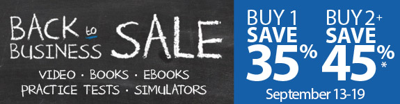 Save up to 45% in the Back to Business Sale from Pearson IT Certification