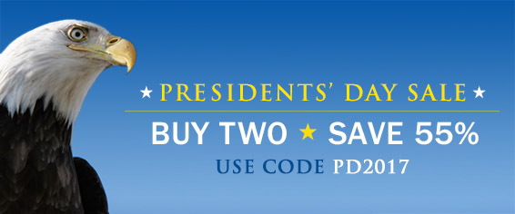 Monumental Savings! Buy 2, Save 55% in the Presidents' Day Sale from Pearson IT Certification