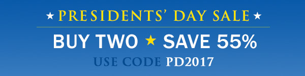 Buy 2, save 55% in the Presidents' Day Sale from InformIT