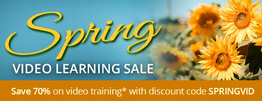 Save 70% on video training* in the Spring Video Learning Sale from Pearson IT Certification