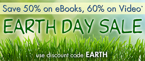Save up to 60% in the Earth Day Sale from InformIT