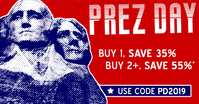 Presidents' Day Sale: Buy 1, Save 35% / Buy 2+, Save 55%*