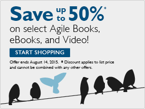 Agile Sale: Save up to 50% on books, eBooks and video with code OPEN2015