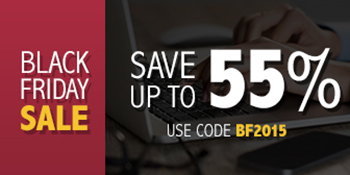 Black Friday Sale: Save up to 55% with code BF2015