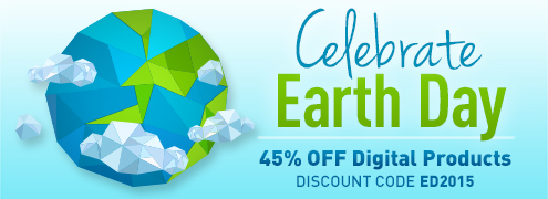 Earth Day Sale: Save 45% on digital products