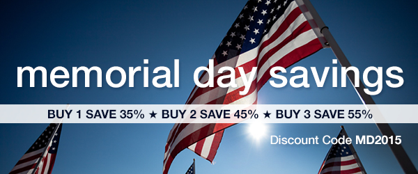 Memorial Day Sale: Save up to 55% Off