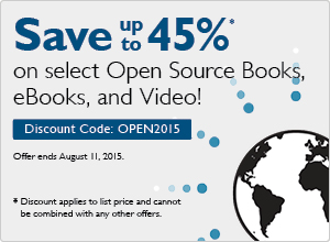 Open Source Sale: Save 45% on books, eBooks and video with code OPEN2015
