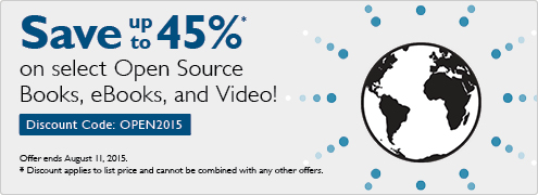 Open Source Sale: Save up to 45% on books, eBooks and video with code OPEN2015