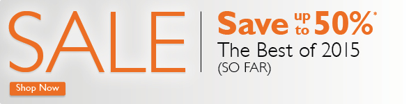 Save up to 50% The Best of 2015 (So Far)