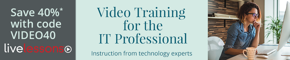 Save 40% on full-course videos from InformIT