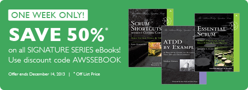 50% Off Addison-Wesley Signature Series eBooks