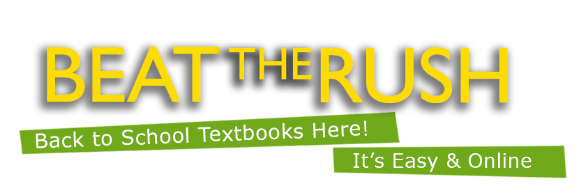 Beat the Rush Back to School Textbooks Here