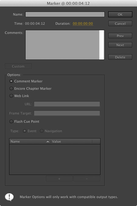 Using Markers in Adobe Premiere Pro CS6 >