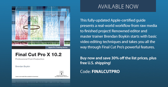 Save 30% on Final Cut Pro X 10.2 Professional Post-Production eBook