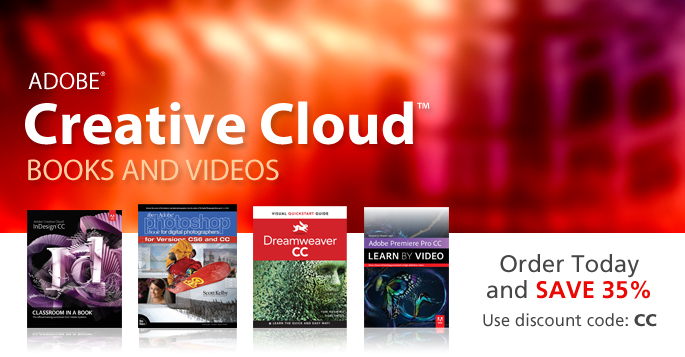 Adobe Creative Cloud Books and Videos from Peachpit