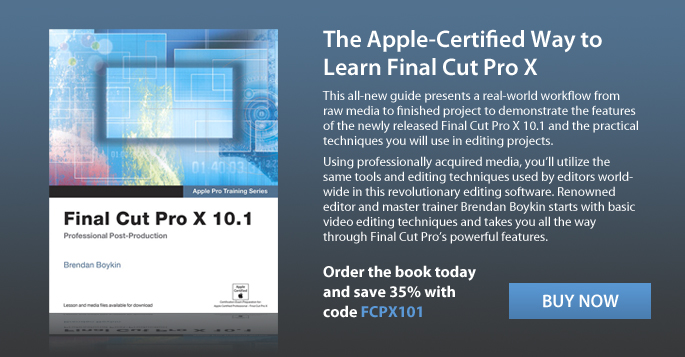 Save 35% on Final Cut Pro X 10.1 with discount code PFCPX101