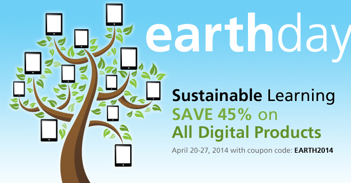 Peachpit Honors Earth Day! Save 45% off eBooks and Digital Videos with Discount Code EARTH2014