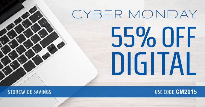 Cyber Monday: Save 55% Digital Products