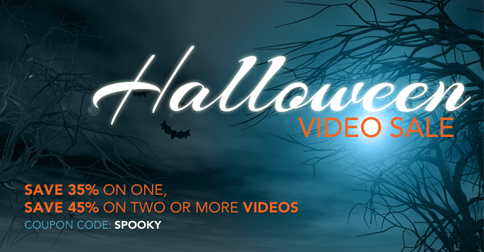 Halloween Video Sale: Buy 1, Save 35% or Buy 2, Save 45%