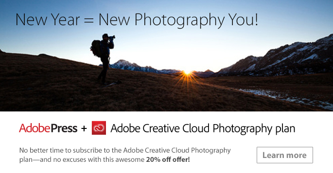 Save up to 20% on the Adobe Creative Cloud Photography Plan