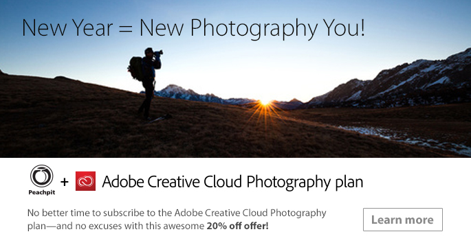 Special offer: Save up to 20% on the Adobe Creative Cloud Photography Plan!