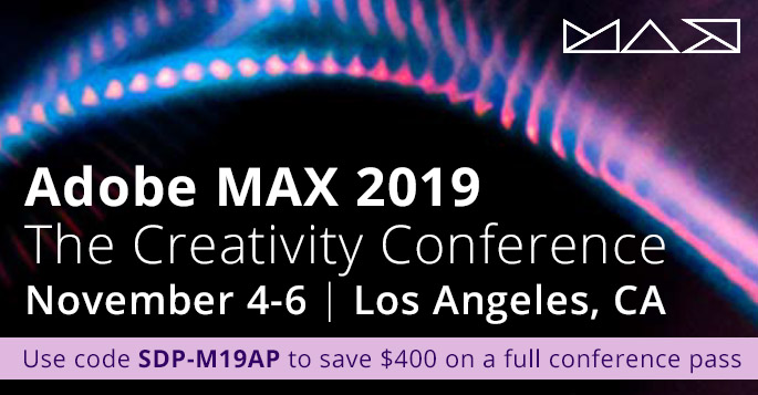 Save $400 on a full conference pass to Adobe MAX 2019