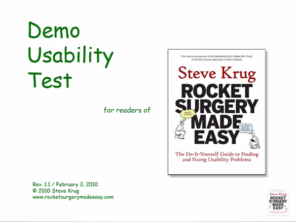 steve krug rocket surgery made easy pdf