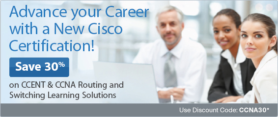 Save 30% on CCENT and CCNA Routing and Switching Books, eBooks, Video, and Simulators