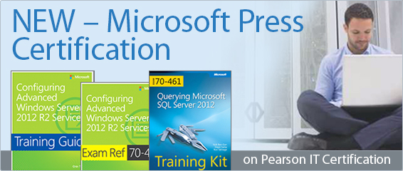 Microsoft Press Titles Now Available from Pearson IT Certification