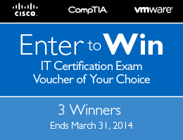 Enter to Win a Free Exam Voucher from Pearson IT Certification