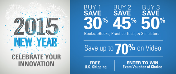 Save up to 50% in the New Year's Sale from Pearson IT Certification
