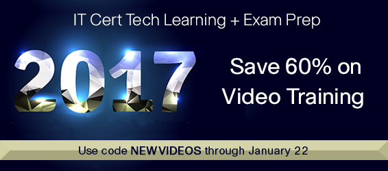 Save 60% on Video Training from Pearson IT Certification