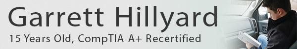 CompTIA A+ Certification Success Story: Garrett Hillyard