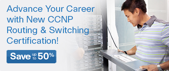 Save up to 50% on CCNP Routing and Switching titles from Pearson IT Certification