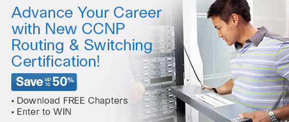 Enter to Win CCNP Routing and Switching ROUTE 300-101 Complete Video Course from Pearson IT Certification