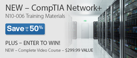 Save up to 50% on CompTIA Network+ titles from Pearson IT Certification and Enter to Win a Complete Video Course
