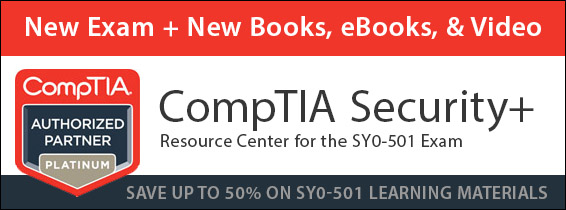 Save 50% on new CompTIA Security+ SY0-501 learning resources from Pearson IT Certification