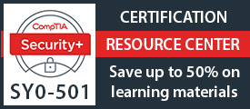 Save up to 50% on New CompTIA Security+ SY0-501 Learning Materials from Pearson IT Certification