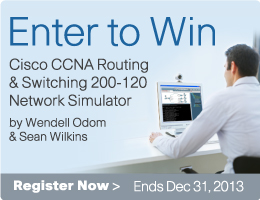 Enter to Win the CCNA Routing and Switching Simulator Sweepstakes