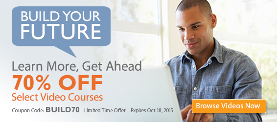 Save 50%-70% on Select Videos from Pearson IT Certification