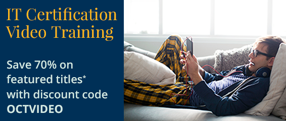 Save 70% on Video Training from Pearson IT Certification