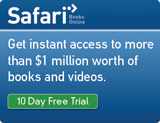 Free 10-Day Trial of Safari Books Online