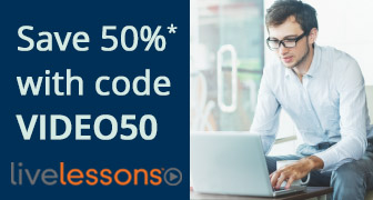 Save 50% on video training from Pearson IT Certification