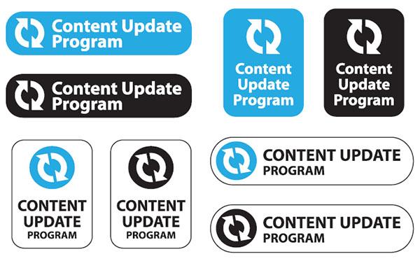 Content Update Program logos