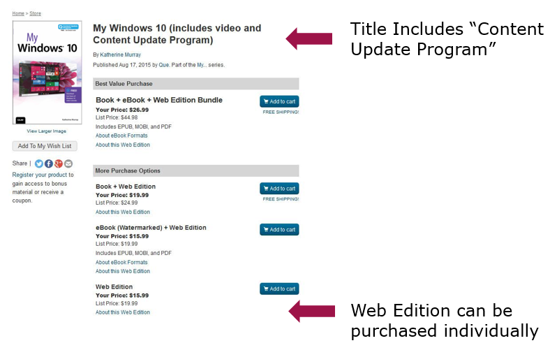 Content Update Program: Sample Universal Product Page
