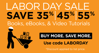 Save up to 55% on books, eBooks, and video from Que Publishing