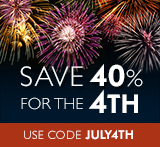 Save 40% in the Fourth of July Sale from Que