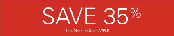 Save 35% with Discount Code APPLE