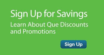 Sign up for special offers from Que